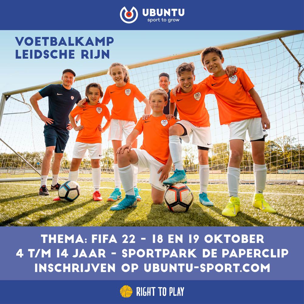 Ubuntu Voetbalkamp in de herfstvakantie (18 en 19 oktober 2021)