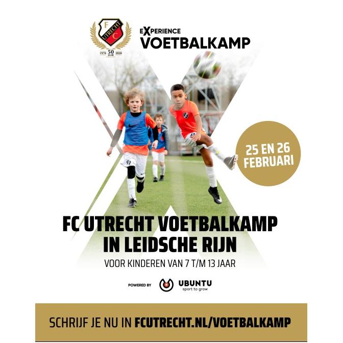 FC UTRECHT Voetbalkamp bij UVV in de voorjaarsvakantie (25 en 26 februari)