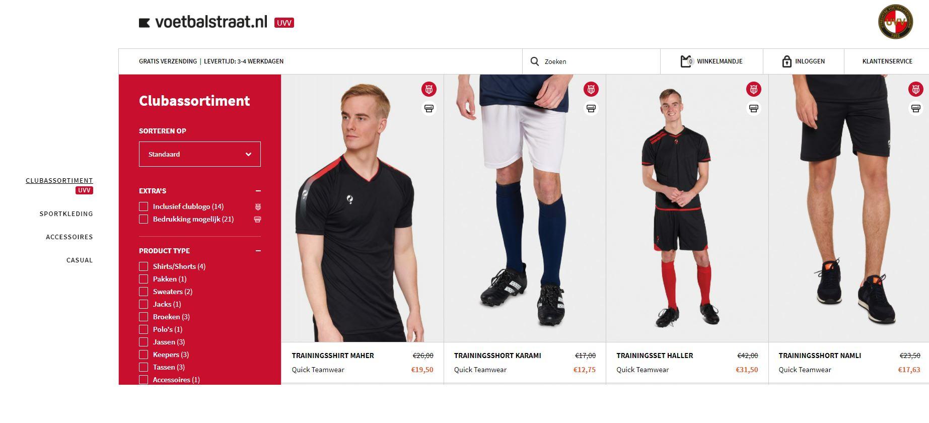 Vernieuwde webshop UVV kleding beschikbaar - Shop altijd met 25% korting